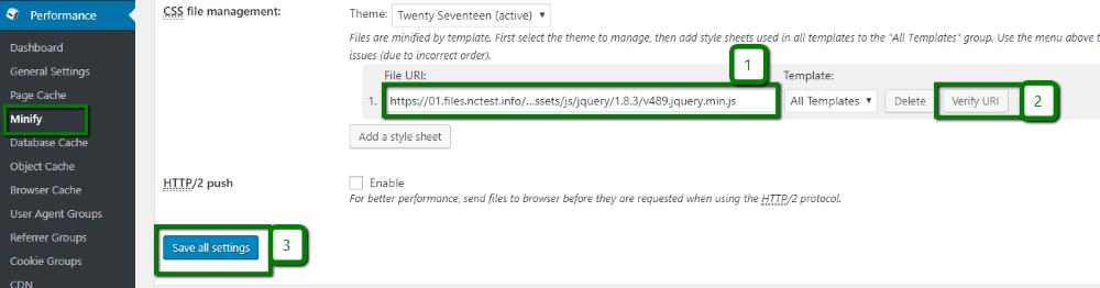 CSS file management