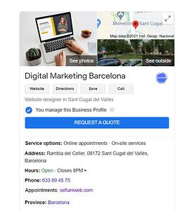 google my business local seo ranking
